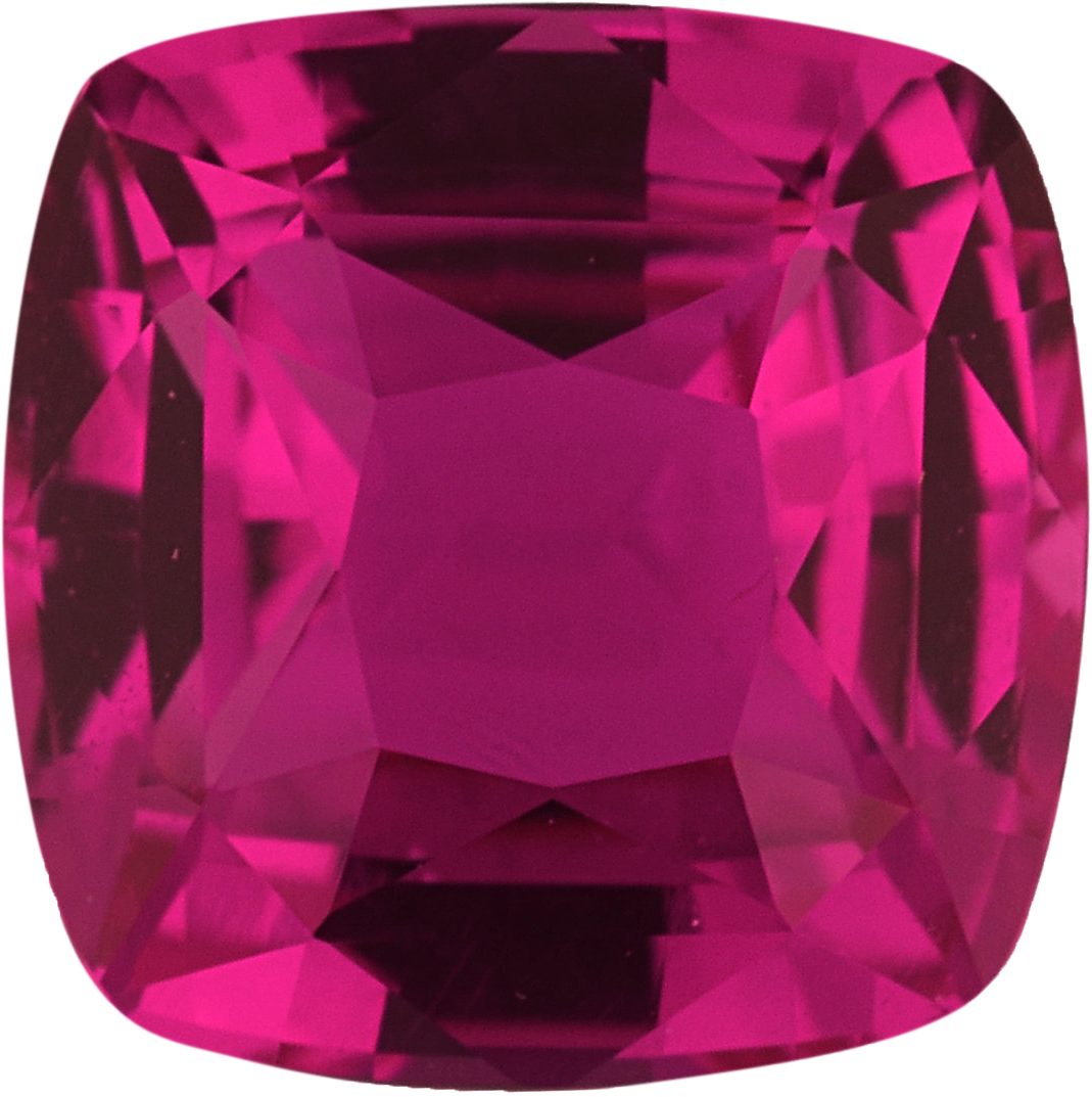 5.56 x 5.54 mm, Pink Loose Sapphire Gemstone in Antique Square Cut, Purplish Red, 1.03 carats