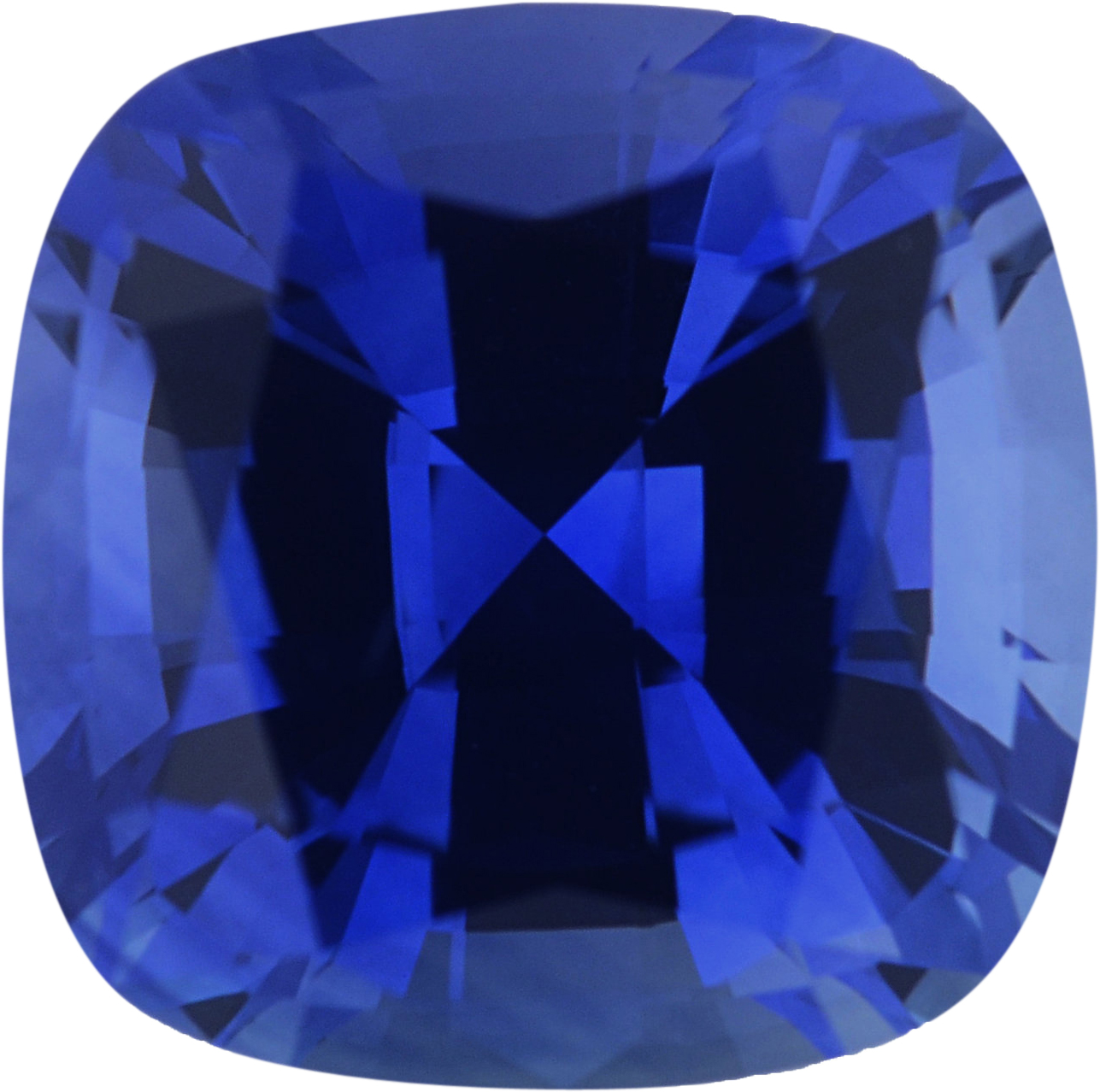 6.47 x 6.45 mm, Blue Loose Sapphire Gemstone in Antique Square Cut, Violetish Blue, 1.49 carats