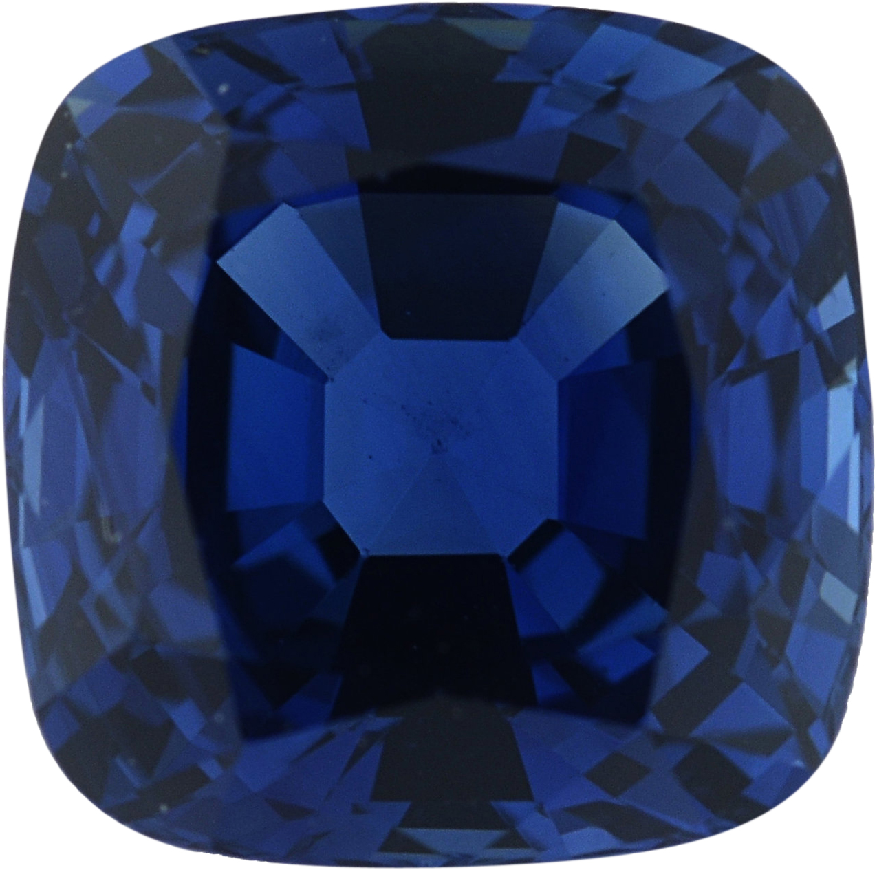 7.18 x 7.18 mm, Blue Loose Sapphire Gemstone in Antique Square Cut, Violetish Blue, 2.39 carats