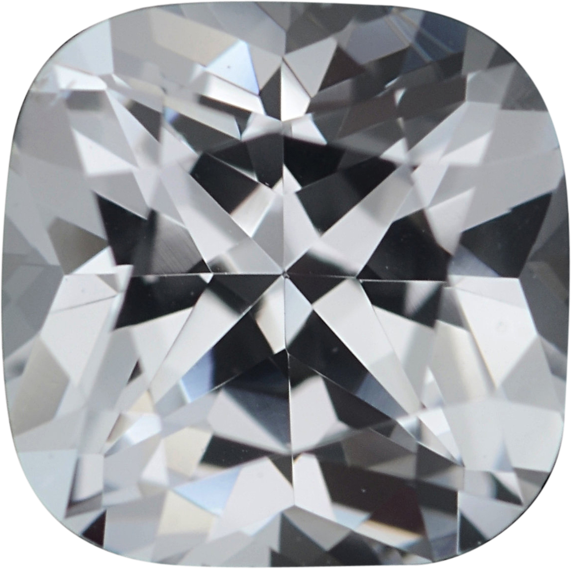 0.92 carats Antique Square Cut Genuine White Sapphire Gem, Near Colorless, Hint of Blue, 5.56 x 5.56 mm