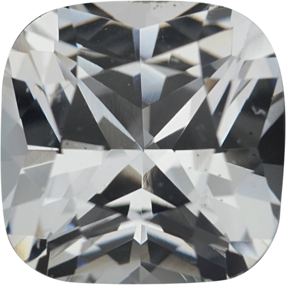 5.53 x 5.51 mm, White Loose Sapphire Gemstone in Antique Square Cut, Near Colorless, 0.93 carats