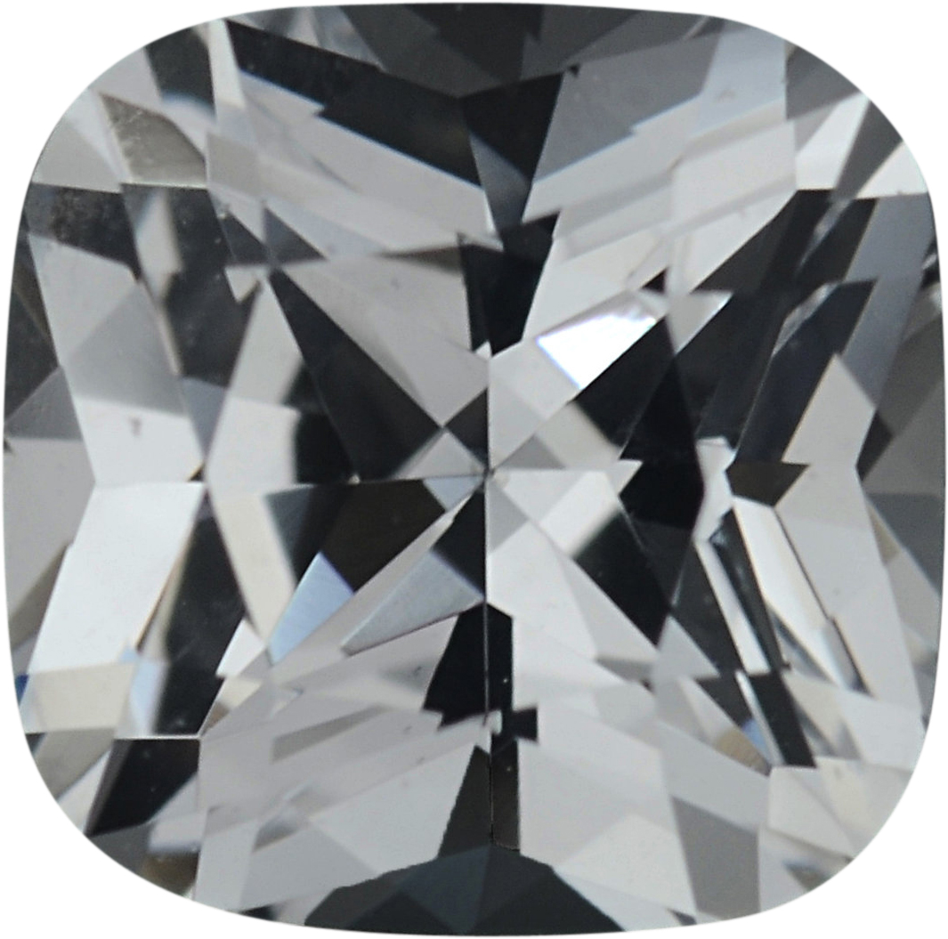 5.54 x 5.49 mm, White Loose Sapphire Gemstone in Antique Square Cut, Near Colorless, 0.95 carats