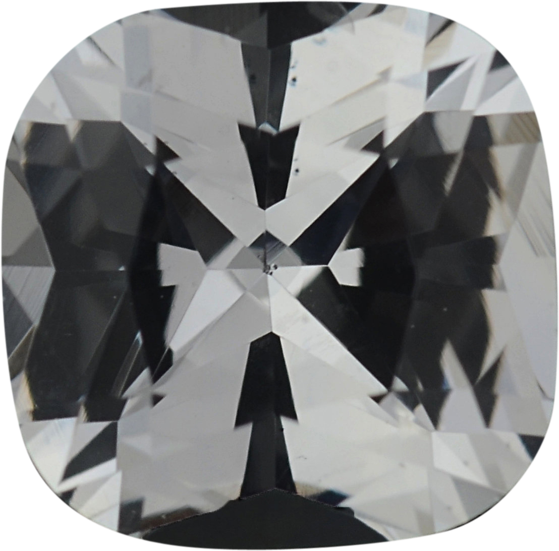0.9 carats Antique Square Cut Genuine White Sapphire Gem, Near Colorless, Hint of Yellow, 5.63 x 5.57 mm