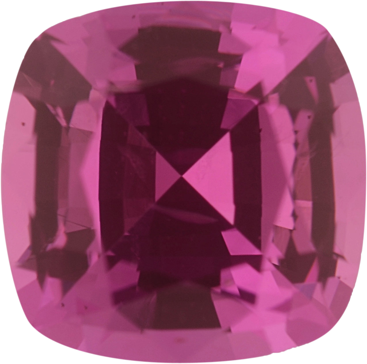 5.95 x 5.95 mm, Pink Loose Sapphire Gemstone in Antique Square Cut, 1.14 carats