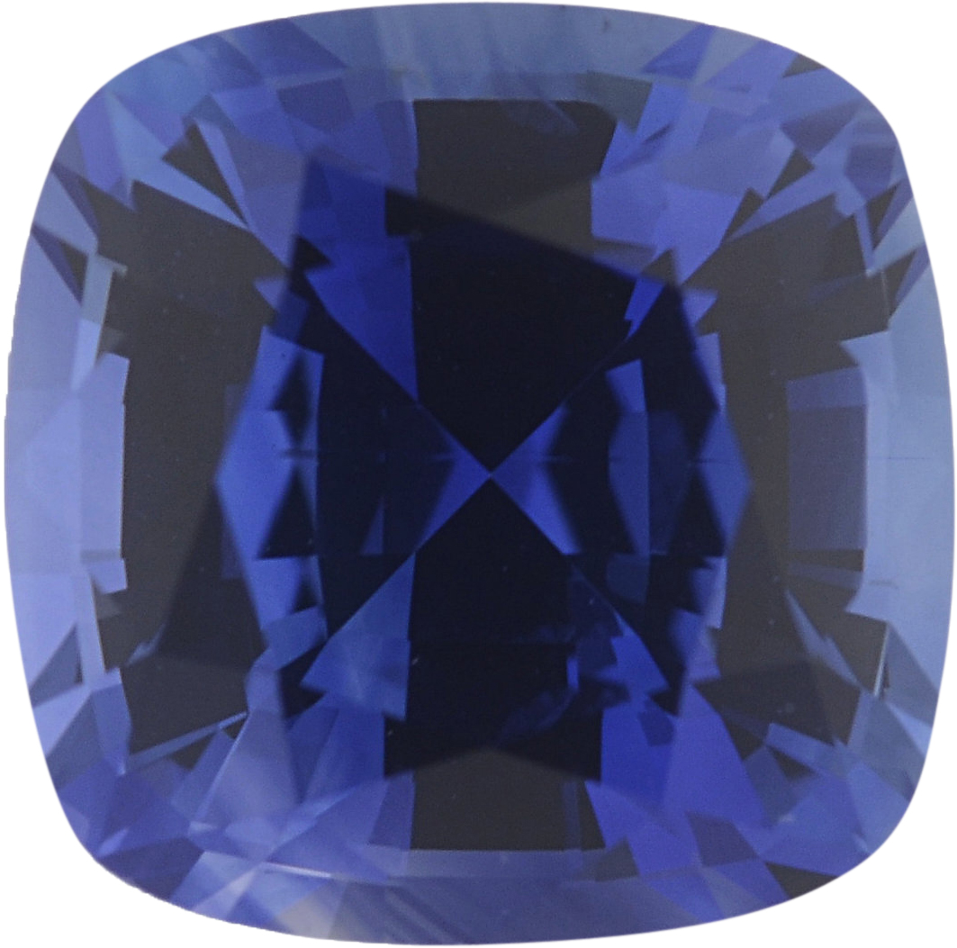 6.17 x 6.17 mm, Blue Loose Sapphire Gemstone in Antique Square Cut, 1.36 carats
