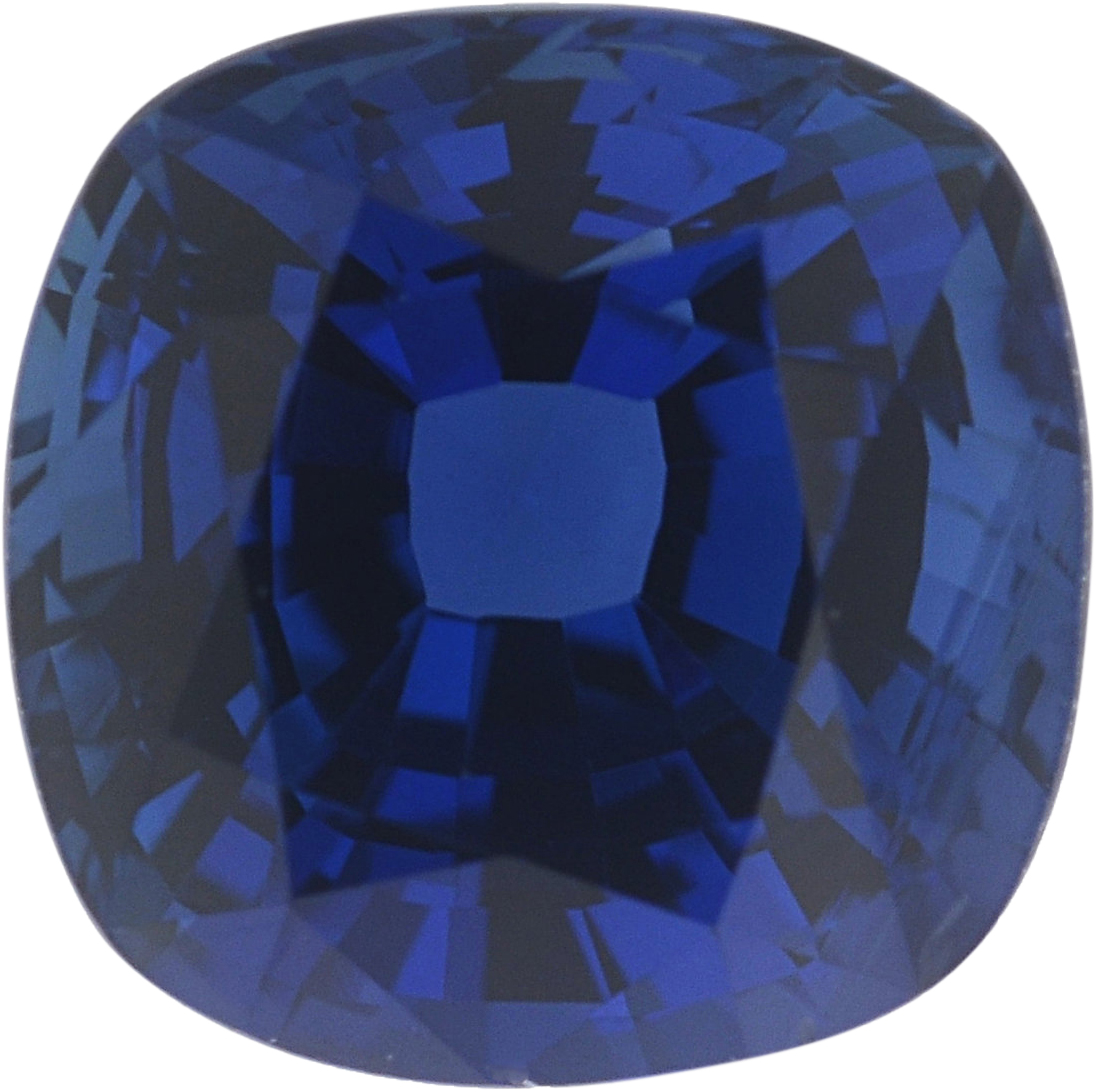 5.32 x 5.32 mm, Blue Loose Sapphire Gemstone in Antique Square Cut, 0.93 carats