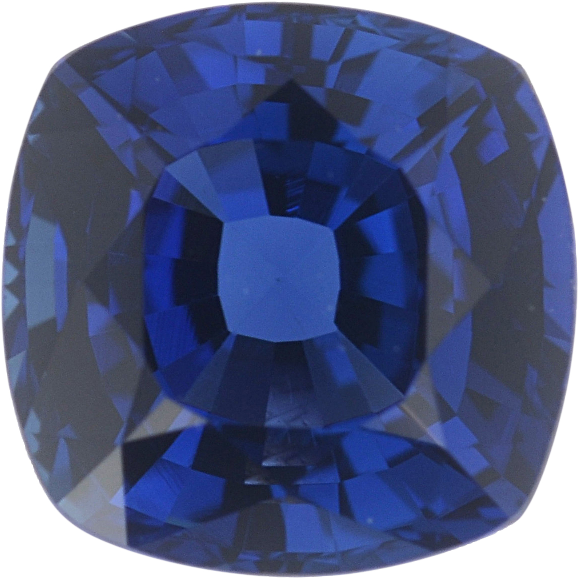 5.43 x 5.41 mm, Blue Loose Sapphire Gemstone in Antique Square Cut, 1.03 carats