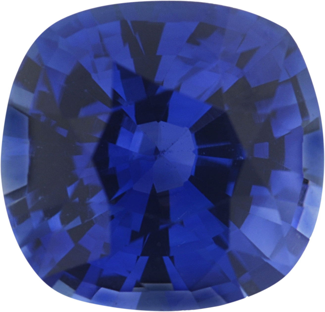6.53 x 6.25 mm, Blue Loose Sapphire Gemstone in Antique Square Cut, 1.34 carats