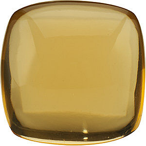 Faceted  Antique Square Shape Cabochon Honey Quartz Genuine Quality Loose Faceted Gem Grade AA, 14.00 mm in Size