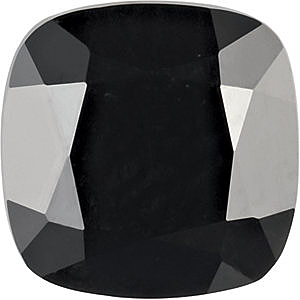 Loose Gemstone Antique Square Shape Faceted Black Onyx Gemstone Grade AAA  Sized 5.00 mm