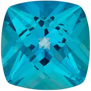 Antique Square Shape Paraiba Passion Topaz Gemstone Grade AAA, 7.00 mm in Size