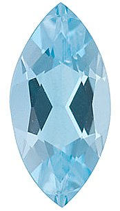 Natural Aquamarine Gem, Marquise Shape, Grade AAA, 4.00 x 2.00 mm in Size, 0.08 carats