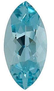 Gemstone Aquamarine Gem in Marquise Shape Grade AAA, 10.00 x 5.00 mm in Size, 0.95 carats