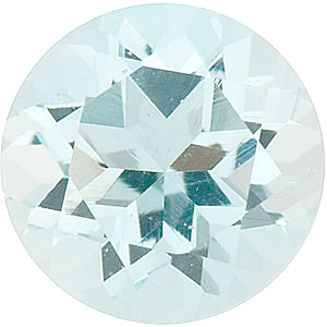 Loose Gem Aquamarine Gemstone in Round Shape Gemstone Grade B, 5.50 mm in Size, 0.6 carats