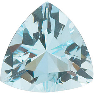 Faceted  Aquamarine Gem in Trillion Shape Grade A, 3.50 mm in Size, 0.14 carats