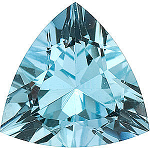 Loose Faceted Aquamarine Gemstone in Trillion Shape Grade AA, 5.50 mm in Size, 0.45 carats