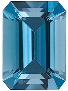 Natural Aquamarine Gem in Emerald Shape Grade AAA, 8.00 x 6.00 mm in Size, 1.4 carats
