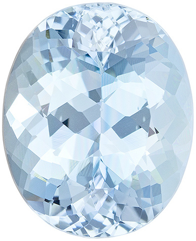 Loose Faceted  Aquamarine Gem, Oval Shape, Grade AA, 6.00 x 4.00 mm in Size, 0.41 carats