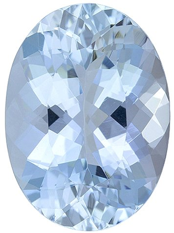 Genuine Aquamarine Gemstone, Oval Shape, Grade AAA, 5.00 x 3.00 mm in Size, 0.22 carats