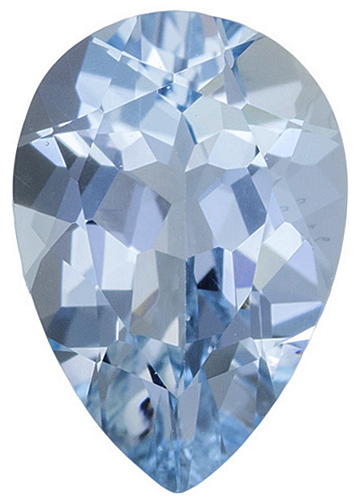 Genuine Loose Blue Faceted Aquamarine Gemstone in Pear Shape Grade AAA, 5.00 x 3.00 mm in Size, 0.2 carats