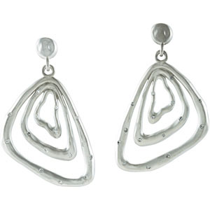 Astonishing 0.40 carat total weight 1.40 mm Diamond Earrings expertly set in Sterling Silver & 14 karat White Gold for SALE