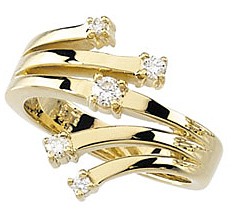 Astonishing 0.50 Total Carat Weight Diamond Right Hand Ring set in 14 karat Yellow Gold - SOLD