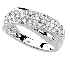 Attractive 0.60 Carat Total Weight 1.40 mm Diamond Ring set in 14 karat White Gold