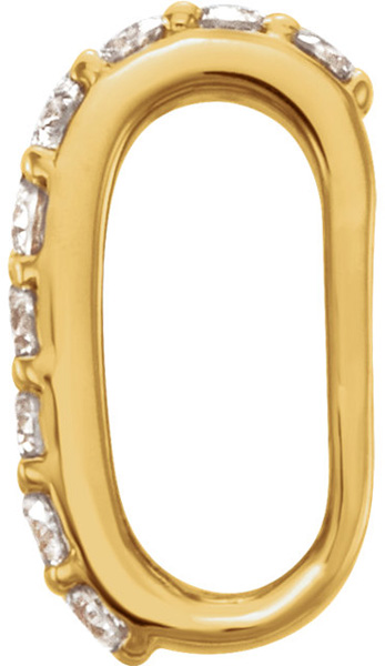 Attractive 14kt Gold 1/10 CTW Diamond Accented Preset Bail - 6.00 x 2.75 mm Inside Dimension