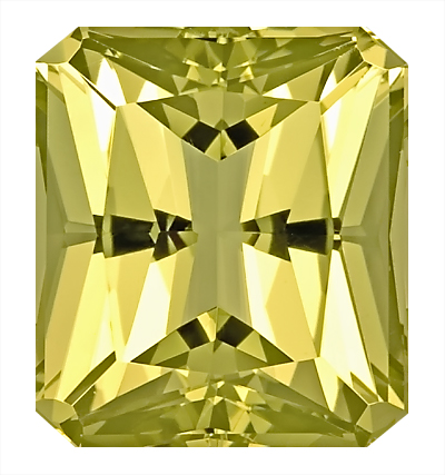 Attractive Bright Green/Yellow Color, Pretty Yellow Beryl Gem, Octagon Cut, 15.7 x 13.9 mm, 14.43 carats