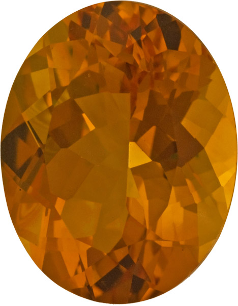 Attractive Loose Citrine Gem in Oval Cut, Beautiful Golden Orange Color in 18.8 x 14.9 mm, 15.49 carats