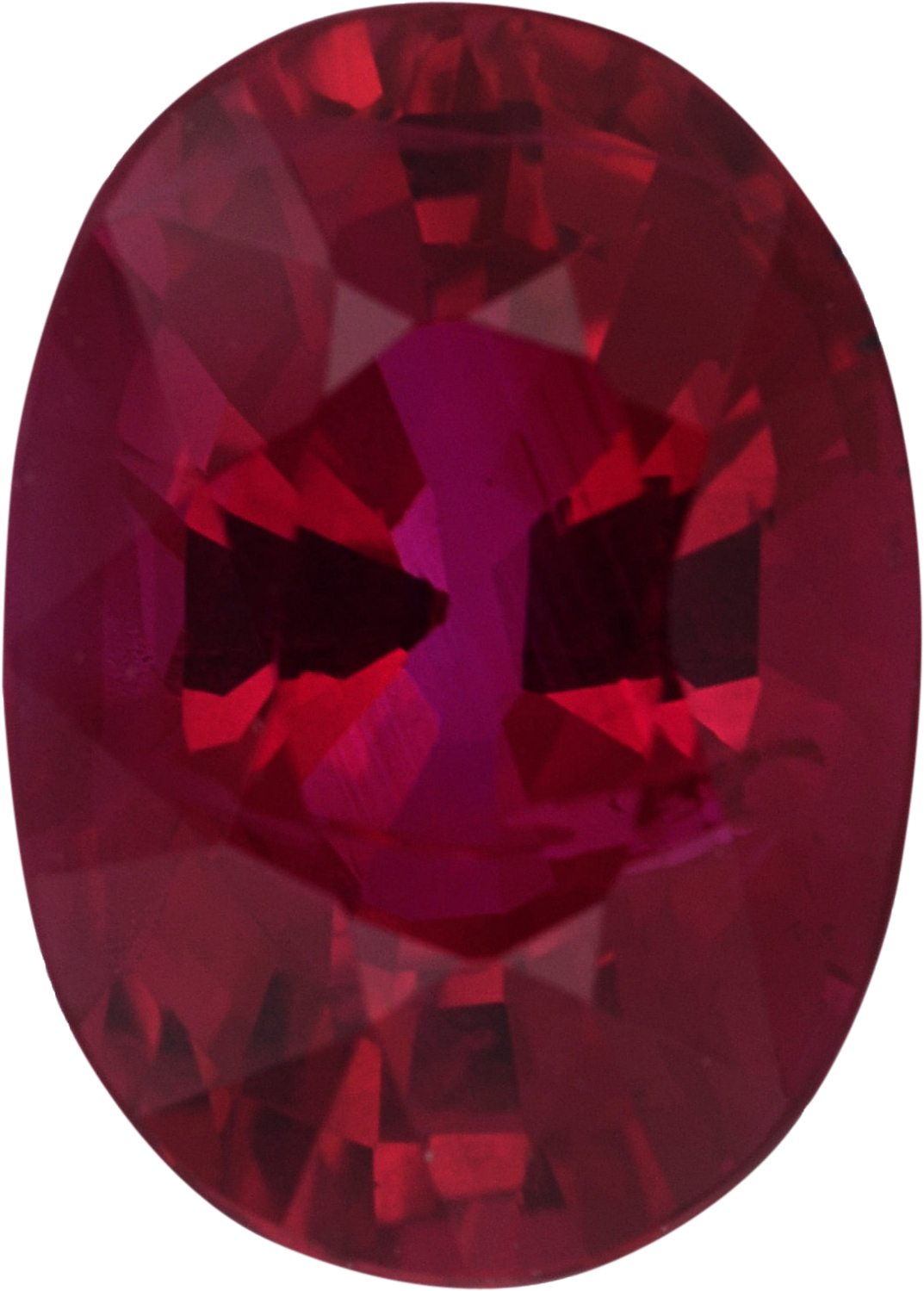 Attractive Loose Ruby Gem in Oval Cut,  Red Color, 7.87 x 5.67 mm, 1.62 carats