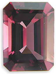 Attractive Pink Red Raspberry Rhodolite Garnet - Hint of Purple, Emerald Cut, 6.25 carats