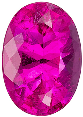 Attractive Pink Tourmaline Loose Gem in Oval Cut, Hot Pink, 13.8 x 9.7 mm, 6.31 carats