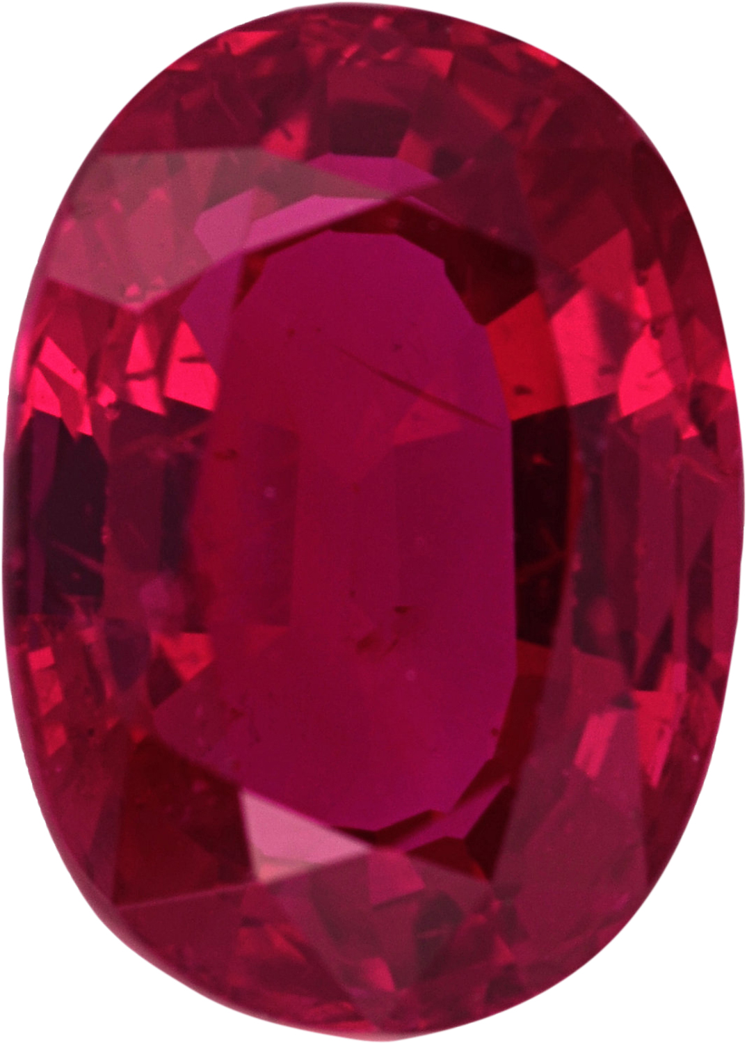Attractive Ruby Loose Gem in Oval Cut, Vibrant Purple Red, 7.14 x 5.13  mm, 1.21 Carats