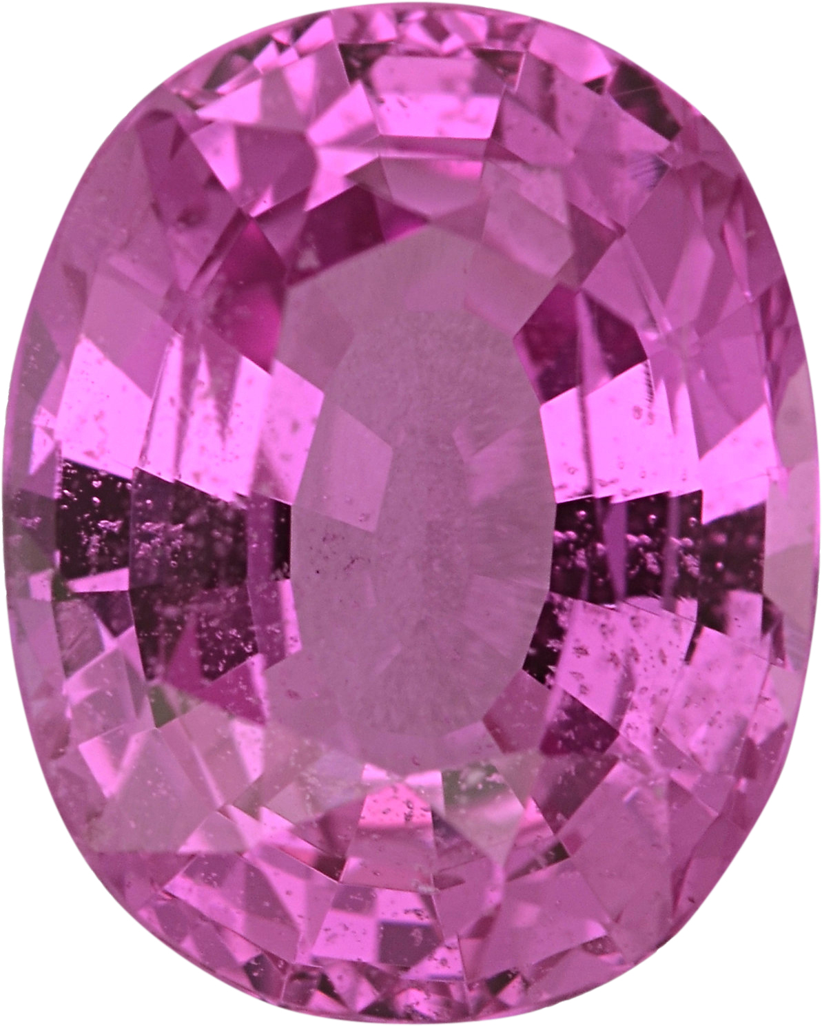 Attractive Sapphire Loose Gem in Oval Cut, Light Purple Pink, 8.35 x 6.65  mm, 2.03 Carats