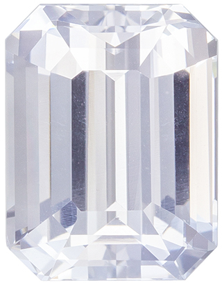 Deal On Stunning White Sapphire Unheated Loose Gem, Emerald Cut, Diamond White, 2.96 carats , 8.58 x 6.64 x 4.88 mm GIA Certified
