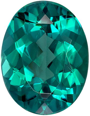 Great Price on Blue Green Tourmaline Gemstone in Oval Cut in a Vivid Teal Blue Green Color in 1.83 carats , 9.1 x 7 mm