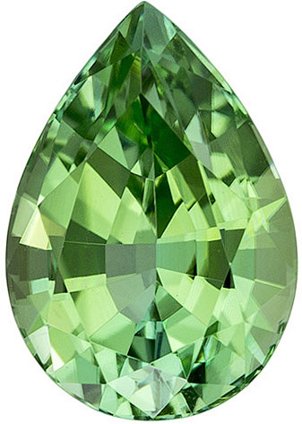Attractive Tourmaline Loose Gemstone in Pear Cut, Mint Green, 10.1 x 7 mm, 2.49 carats