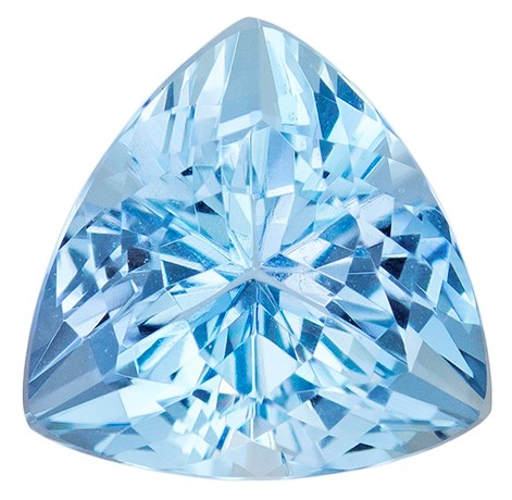 Authentic Aquamarine Gemstone, Trillion Cut, 1.78 carats, 8 mm , AfricaGems Certified - A Great Buy