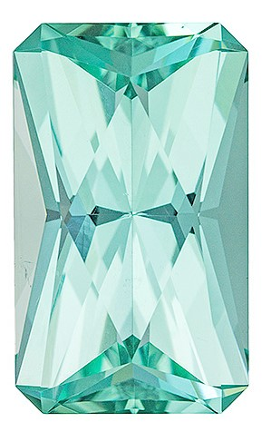Authentic Blue Green Tourmaline Gemstone, Radiant Cut, 9.34 carats, 16 x 9.6 mm , AfricaGems Certified - A Hard to Find Gem