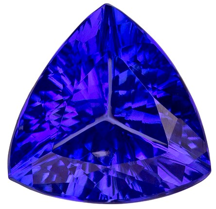 Authentic Vivid Tanzanite Gemstone, Trillion Cut, 1.41 carats, 7.5 mm , AfricaGems Certified - A Fine Gem