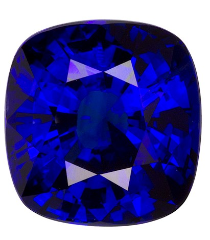 Authentic Blue Sapphire Gemstone, Cushion Cut, 6.07 carats, 10.46 x 9.98 x 6.75 mm , GIA Certified - A Great Deal