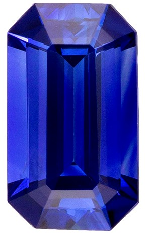 Authentic Blue Sapphire Gemstone, Emerald Cut, 0.3 carats, 5 x 2.9 mm , AfricaGems Certified - Truly Stunning