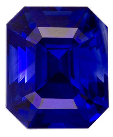 Authentic Blue Sapphire Gemstone, Emerald Cut, 1.31 carats, 6.2 x 5.2 mm , AfricaGems Certified - A Low Price