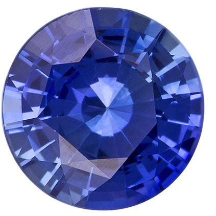 Authentic Blue Sapphire Gemstone, Round Cut, 1.1 carats, 6.5 mm , AfricaGems Certified - Truly Stunning