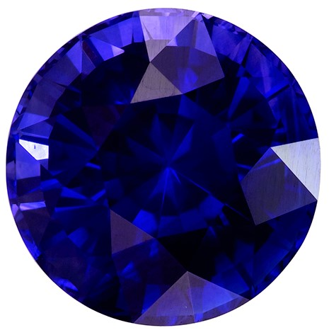 Authentic Blue Sapphire Gemstone, Round Cut, 3.8 carats, 8.77 x 8.88 x 6.53 mm , GIA Certified - Truly Stunning