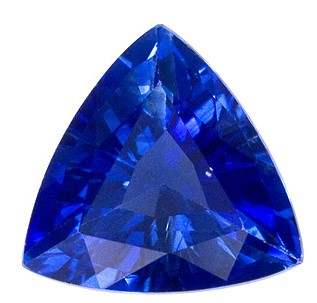 Authentic Blue Sapphire Gemstone, Trillion Cut, 1.2 carats, 6.9 mm , AfricaGems Certified - A Wonderful Find!