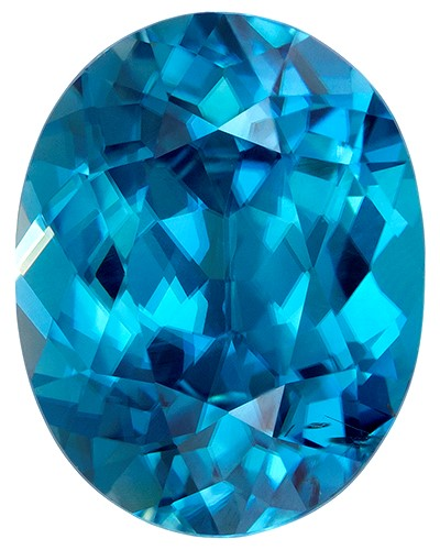 Authentic Blue Zircon Gemstone, Oval Cut, 4.26 carats, 10.5 x 8.2 mm , AfricaGems Certified - A Great Deal
