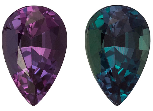 Authentic Color Change Alexandrite Gemstone, Pear Cut, 0.72 carats, 6.9 x 4.6 mm , AfricaGems Certified - A Low Price