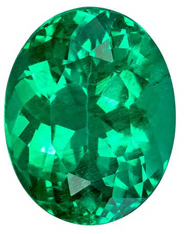 Authentic Vibrant Emerald Gemstone, Oval Cut, 2.85 carats, 10.1 x 8 mm , AfricaGems Certified - A Fine Gem